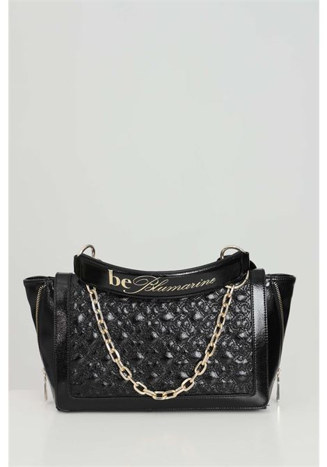 Black bag with removable shoulder strap and eco-leather handles. Zip closure and internal compartments with zip. Blumarine Blumarine | Bag | E17WBBB570801899