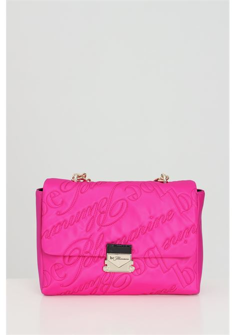 Fuchsia bag with chain shoulder strap and allover logo stitched. Interlocking closure. Blumarine Blumarine | Bag | E17WBBM172019401