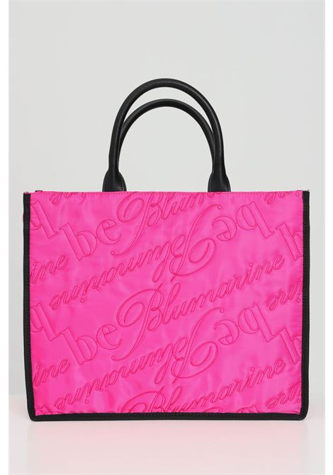 Fuchsia shopper with contrasting handles in eco-leather and stitched effect. Zip closure and internal compartments with zip. Blumarine Blumarine | Bag | E17WBBN172019401