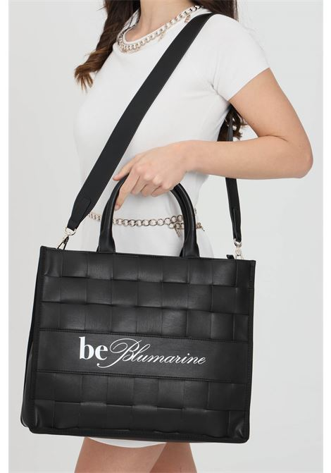 Black bag with eco-leather handles. Zip closure and internal compartments with zip. Blumarine Blumarine | Bag | E17WBBN172022NERO