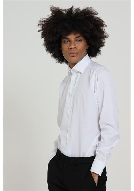 Camicia uomo bianco brancaccio caruso elegante BRANCACCIO CARUSO | Camicie | CBN0100