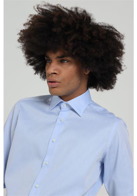 Camicia uomo azzurro brancaccio caruso elegante BRANCACCIO CARUSO | Camicie | CBN0101