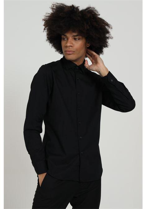 Camicia uomo nero brancaccio caruso elegante BRANCACCIO CARUSO | Camicie | CDC1519