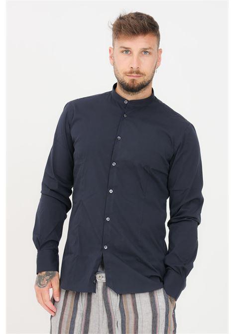 Camicia uomo blu brancaccio caruso coreana BRANCACCIO CARUSO | Camicie | GURUS82004