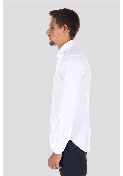 Camicia uomo bianco brancaccio caruso elegante BRANCACCIO CARUSO | Camicie | SL0000ABA0100BUNI