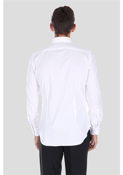 Camicia uomo bianco brancaccio caruso elegante con bottoni BRANCACCIO CARUSO | Camicie | SL0000KS66001BUNI