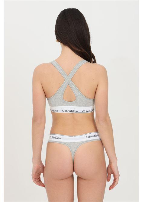 Intimo bralette donna grigio calvin klein con banda elastica logata CALVIN KLEIN | Bralette | 000QF1654E020