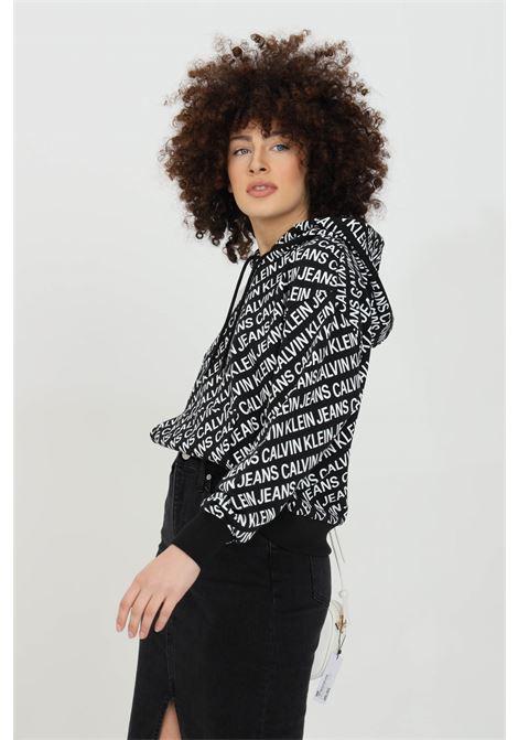 Hoodie with lettering print  CALVIN KLEIN | Sweatshirt | J20J2155730GJ
