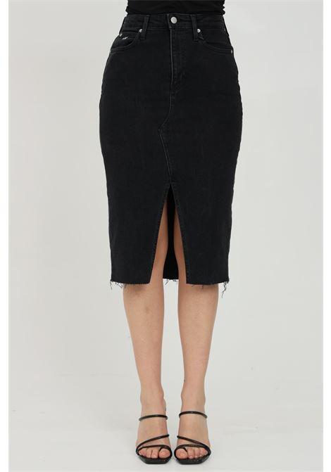 Midi denim skirt with front slit CALVIN KLEIN | Skirt | J20J2159231BY