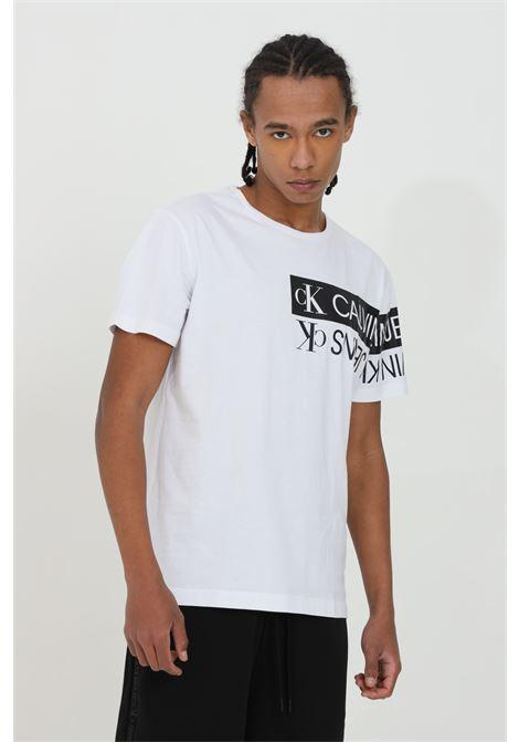 Crew neck t-shirt with front print CALVIN KLEIN | T-shirt | J30J317086YAF