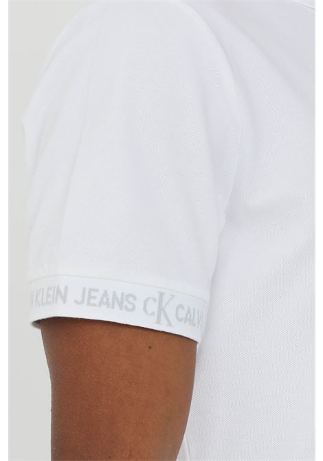 Slim polo shirt with logo cuff CALVIN KLEIN | Polo Shirt | J30J317283YAF