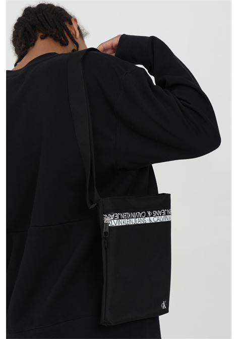 Men's shoulder strap in fabric with contrasting details CALVIN KLEIN | Bag | K50K506539BDS