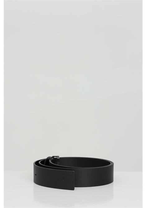 Solid color belt with stainless steel logo buckle tone on tone CALVIN KLEIN | Belt | K50K506548BDS