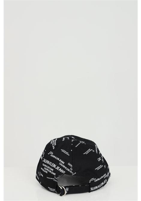 Black unisex hat with allover print. Brand: Calvin klein CALVIN KLEIN | Hat | K50K506812BDS