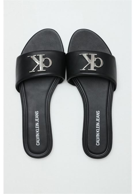 Solid leather slippers over the foot CALVIN KLEIN | Slipper | YW0YW00144BDS