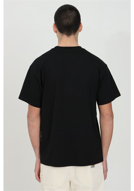 Black script embroidery t-shirt in cotton jersey with embroidered logo in contrast, short sleeve. Carhartt CARHARTT | T-shirt | I025778.0389.90