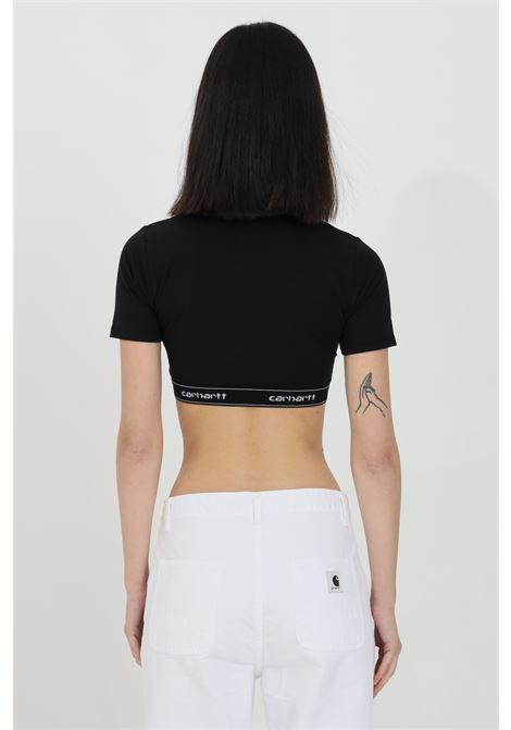 T-shirt crop con molla logata CARHARTT | Top | I027559.0389.90