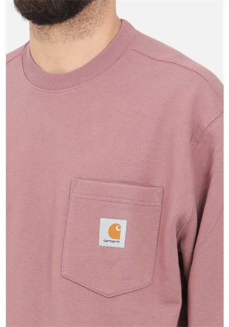 Wine Pocket Sweatshirt, crew neck model. Carhartt  CARHARTT | Sweatshirt | I027681.030AE.00