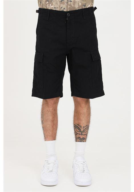 Shorts uomo nero carhartt casual modello cargo CARHARTT | Shorts | I028245.0089.02