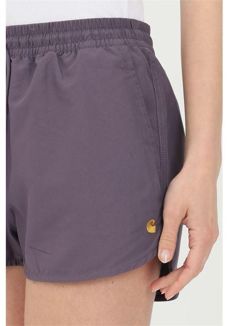 Violet shorts in solid color. Carhartt CARHARTT | Shorts | I028940.030AF.90