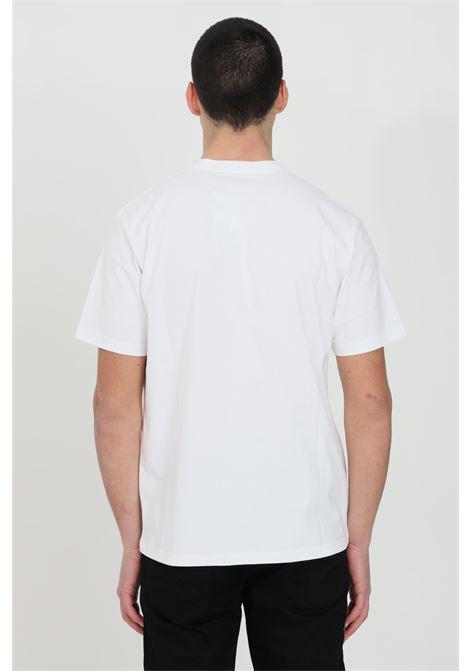 White S/S University Script t-shirt with front print, short sleeve. Basic model. Carhartt CARHARTT | T-shirt | I028991.0302.90