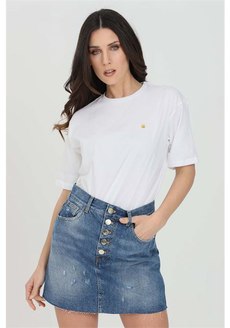 White t-shirt with short sleeve. Carhartt  CARHARTT | T-shirt | I029072.0302.90