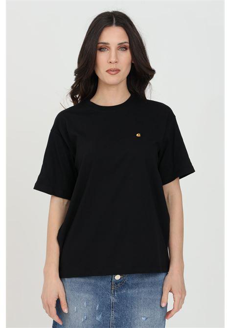 Black women's t-shirt with short sleeve carhartt  CARHARTT | T-shirt | I029072.0389.90