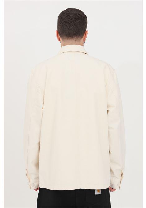 Camicia uomo beige carhartt casual con tasche frontali CARHARTT | Camicie | I029119.0305.GD