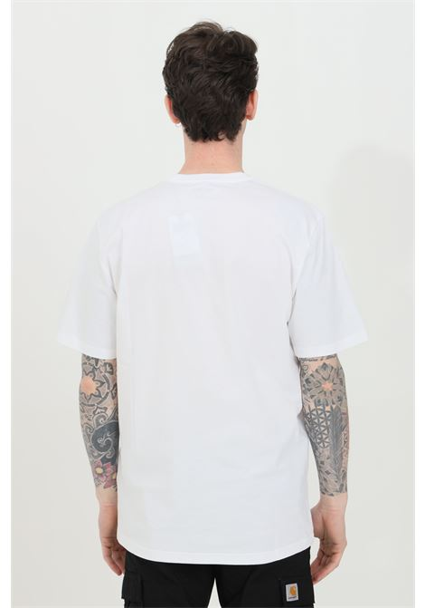 White wip script t-shirt with contrasting logo on the front, short sleeve, regular fit. Carhartt CARHARTT | T-shirt | I029915.0302.90