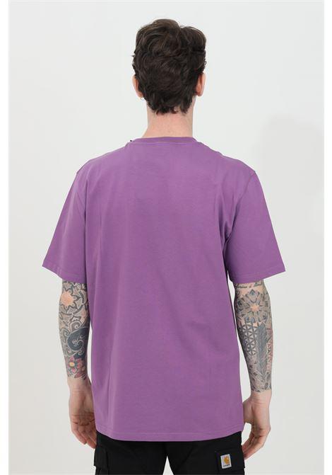 Purple wip script t-shirt with contrasting logo on the front, short sleeve, regular fit. Carhartt CARHARTT | T-shirt | I029915.030AJ.90