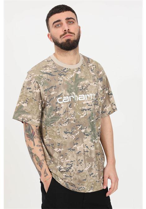Military green t-shirt, short sleeve. Carhartt CARHARTT | T-shirt | I029915.0BW.90.0303