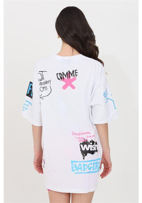 White short dress short sleeve comme des fuckdown COMME DES FUCKDOWN | Dress | CDFD1368BIANCO