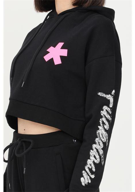 Black women's sweatshirt by comme des fuckdown with short cut COMME DES FUCKDOWN | Sweatshirt | CDFD1398NERO