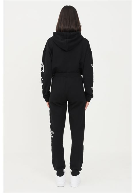 Black women's trousers by comme des fuckdown with strass on the side COMME DES FUCKDOWN | Pants | CDFD1402NERO