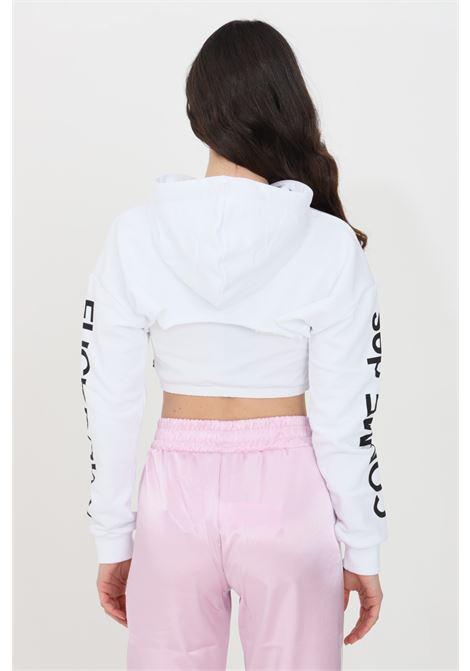 White hoodie with laces comme des fuckdown COMME DES FUCKDOWN | Sweatshirt | CDFD1444BIANCO
