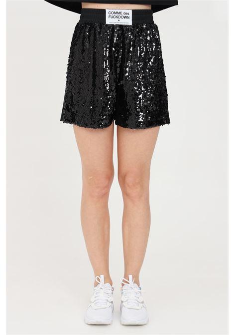 Black casual shorts comme des fuckdown COMME DES FUCKDOWN | Shorts | CDFD1495NERO