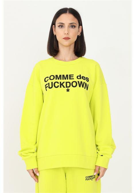 Lime unisex sweatshirt by comme des fuckdown, crew neck COMME DES FUCKDOWN | Sweatshirt | CDFU1104LIME