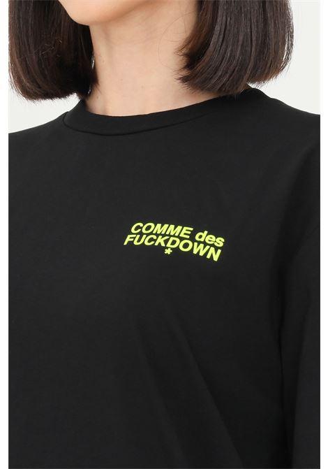 Black unisex t-shirt by comme des fuckdown with logo on the front COMME DES FUCKDOWN | T-shirt | CDFU1108NERO