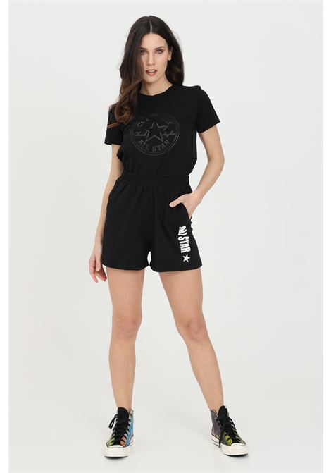 Black all star side w shorts, casual model with elastic waistband and side pockets. Contrasting logo. Converse CONVERSE | Shorts | 10022589-A03A03