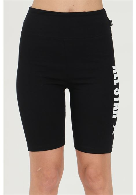 Black shorts in cotton with side print, sport. Slim fit. Converse CONVERSE | Shorts | 10022590-A01A01
