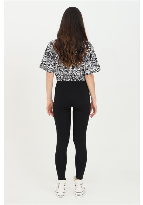 Leggings donna nero Converse in cotone con stampa laterale. Slim fit CONVERSE | Leggings | 10022600-A01A01