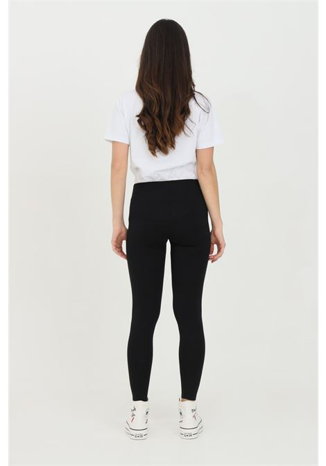 Black leggings in cotton with side print. Slim fit. Converse CONVERSE | Leggings | 10022604-A01A01