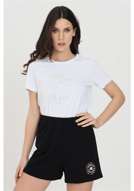 T-shirt chuck iridescent donna bianco Converse manica corta. Modello a girocollo con stampa CONVERSE | T-shirt | 10022643-A01A01