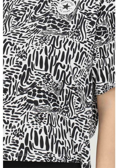 T-shirt chuck taylor graphic art boxy tee donna egret multi Converse manica corta. Modello a girocollo con fantasia animalier CONVERSE | T-shirt | 10022647-A01A01