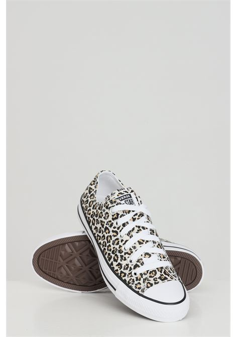 Sneakers chuck taylor all star donna animalier converse con stampa maculata allover, suola in gomma e punta tonda, chiusura con lacci CONVERSE | Sneakers | 166260C.