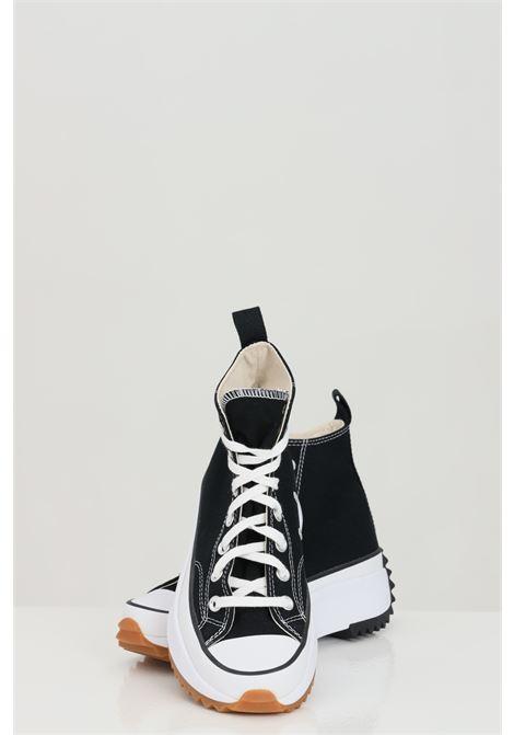 Sneakers RUN STARHIKE HI donna nero converse in tinta unita con para alta in gomma e punta tonda, chiusura con lacci CONVERSE | Sneakers | 166800CC450