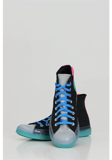 Black Chuck Taylor All Star CX High Top sneakers with contrasting laces, rubber sole and round toe with transparency. Side patch. Converse CONVERSE | Sneakers | 170138C855