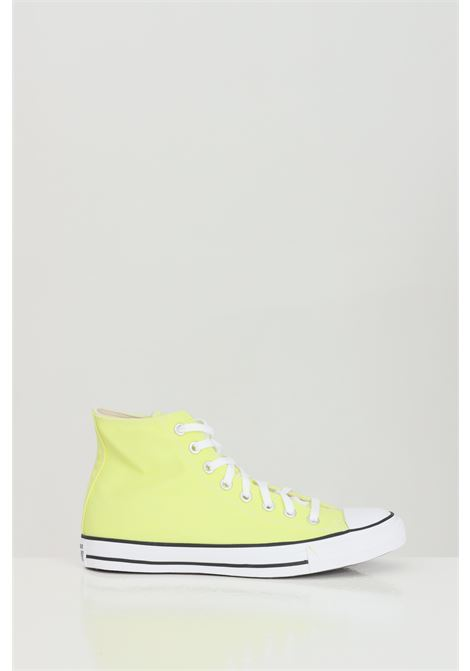 Yellow CTAS HI sneakers in solid color, basic boot model with rubber sole and round toe, closure with laces. Converse  CONVERSE | Sneakers | 170154C.