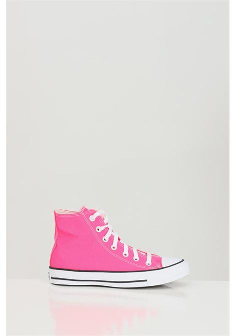 Sneakers donna fucsia converse in tinta unita modello stivaletto basic suola in gomma e punta tonda, chiusura con lacci CONVERSE | Sneakers | 170155C.