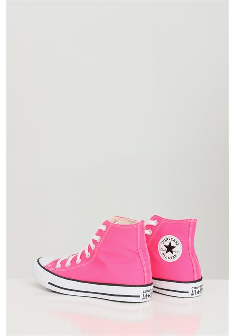 Fuchsia sneakers in solid color with rubber sole and round toe, closure with laces. Boot model. Converse  CONVERSE | Sneakers | 170155C.